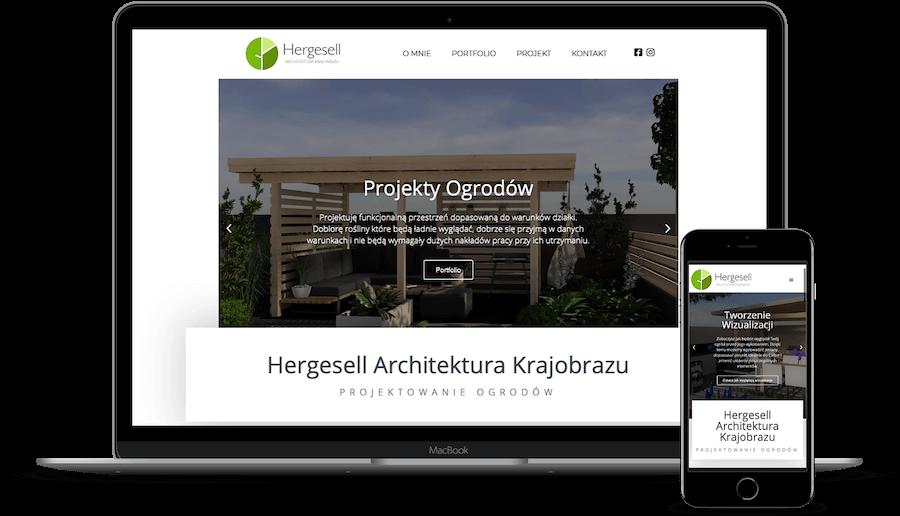 Projekt strony internetowej h-ak.pl Hergesell Architektura Krajobrazu
